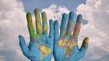 Picture of the world in someones hands