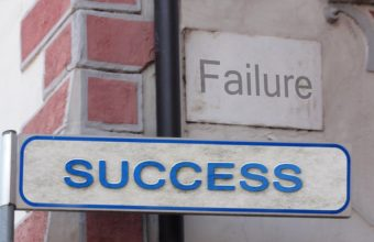 bouncing back for a failure,success or failure,failure road sign,