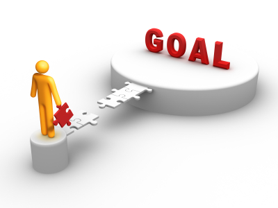 setting goals and objectives,working on a goal,