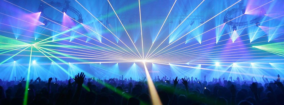 Trance music at a rave