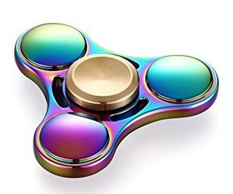 Rainbow Colored Fidget Spinning Toy