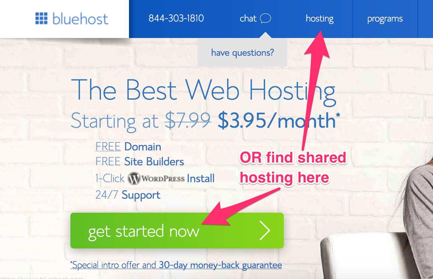 Launching a new site with Bluehost