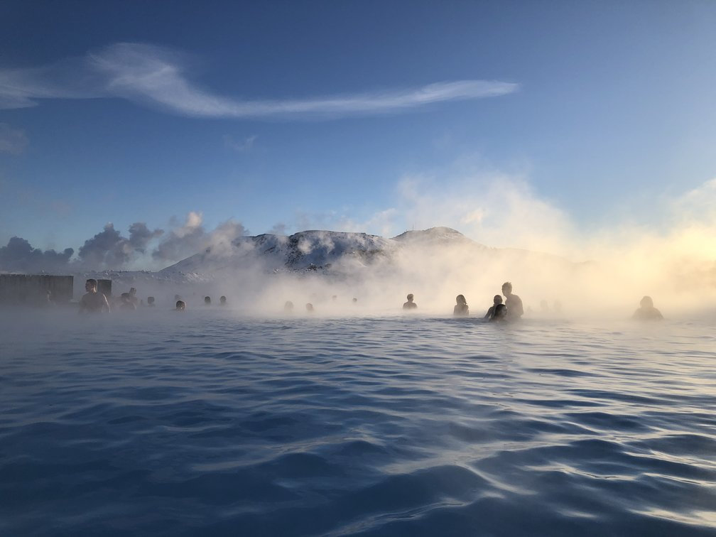 A steamy shot of the Blue Lagoon in Iceland